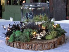 Chuck Does Art: Wedding Centerpieces: DIY Rustic Terrariums with subtle Nerd Accents  Star Wars Terrarium fun from our wedding!