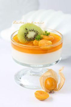 Peach Vanilla Panacotta  #shopfesta #mesadedoces #minisobremesa