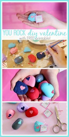you rock diy valentine with a FREE printable - this is a simple and awesome idea, I just love it!! - Sugar Bee Crafts