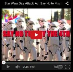 For 'Star Wars Day' tomorrow, The Galactic Empire has issued an attack ad, urging citizens to forgo the festivities of May the In. National Star Wars Day, Im A Loser, Star War 3, The Force Is Strong, Youtube Stars, Star Wars Party, Star Wars Humor, Love Stars, The 4