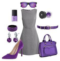 Royal Purple by ohsosara64 on Polyvore featuring polyvore, fashion, style, H&M, Nine West, Dasein, Oravo, Amrita Singh, Sunski, Pinko, Lancôme, NARS Cosmetics and clothing