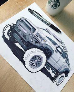 By @robert1117 #drawtodrive #autodesign #trucklife #adventure #offroad #jdm #4x4 #industrialdesigner #cardesign #cardesigncommunity #liftedtruck #carart #toyotatundra #conceptsketch #automotivedesign #transportationdesign #rendering #carstagram #carillustration #carsketch #drifting #truckdrawing #pittsburgh Car Design Sketch, Car Sketch, Tacoma 4x4, Industrial Design Sketch, Car Illustration, Futuristic Cars, Car Drawings, Bike Design, Transportation Design