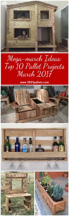 Shake off the winter blahs, get some fresh air, and make something awesome to welcome Spring! Here are the Top 10 Pallet Projects March 2017 as chosen by YOU, our awesome Crafters! Put some Spring in your step with these Top 10 Pallet Projects
