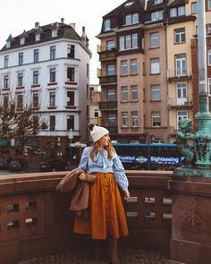 The best things to do during a layover in Frankfurt Germany, The best sights in Frankfurt, The best restaurants in Frankfurt, The best bridges in Europe, The best European architecture, The best outfit for germany in winter read more about it here: http://whimsysoul.com/things-layover-frankfurt/ #germany #worldtraveler #beanie #camelcoat