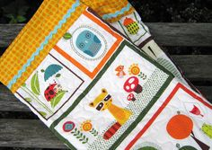 Baby Quilt  Whimsical Retro Animals by bungalowquilts on Etsy, $80.00