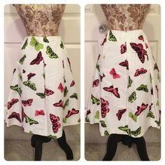 New with tags! Talbots butterfly skirt Fun and flirty and so flattering!  Pretty butterflies adorn this pleated full skirt with pockets. Talbots Skirts