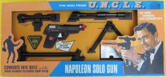 IDEAL: 1965 The Man From U.N.C.L.E. Napoleon Solo Gun #Vintage #Toys