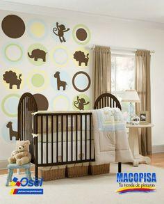 El color café símbolo: tierra, tostado, madera o sencillez, y tiene un efecto de estabilidad, reflexión, acogedor y se dice estimula el apetito. Por eso es ideal para el cuarto de tu bebe!!  ¿Ustedes que opinan?