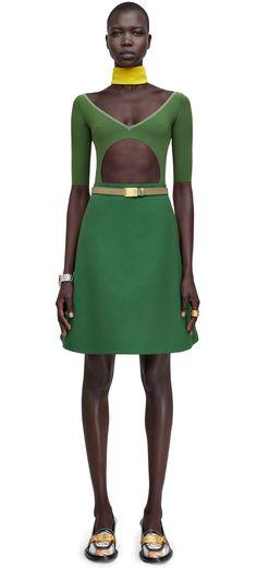 Piana casual a-line cotton pique skirt #AcneStudios #SS15