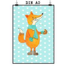 Poster DIN A0 Fuchs Keks aus Papier 160 Gramm  weiß - Das Original von Mr. & Mrs. Panda.  Jedes wunderschöne Poster aus dem Hause Mr. & Mrs. Panda ist mit Liebe handgezeichnet und entworfen. Wir liefern es sicher und schnell im Format DIN A0 zu dir nach Hause. Das Format ist 841 mm x 1189 mm.    Über unser Motiv Fuchs Keks  Die Fox-Edition ist eine besonders liebevolle Kollektion von Mr. & Mrs. Panda. Jedes Motiv ist - wie immer bei Mr. & Mrs. Panda - handgezeichnet und wird in unserer…