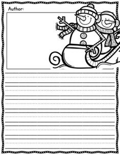 Winter Themed Writing Paper includes publishing pages with a cute border, winter clip art and half a page of handwriting lines for primary students. Also included is one page that consists entirely of handwriting lines for your lengthy authors' second page. Perfect for final drafts, writing centers, fast finishers…the possibilities are endless!   writing practice   teaching writing elementary   First grade writing paper   snowman writing activity   writing printables for kids  