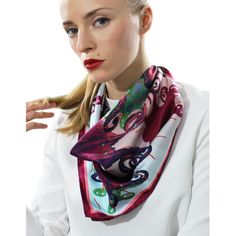Small Octopus Rose Silk Scarf by Irene Paris Octopus, Square Scarf, Alexander Mcqueen Scarf, Scarves, Etsy, Silk, Irene, Paris, Boutique