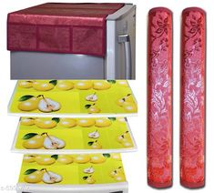 Fridge Covers Trendy Fridge Mats  Material: PVC Pack: Pack of 1 Product Length: 60 cm Product Height: 90 cm Country of Origin: India Sizes Available: Free Size   Catalog Rating: ★3.9 (453)  Catalog Name: Free Mask Classy Fridge Covers CatalogID_907475 C131-SC1623 Code: 291-5990767-273