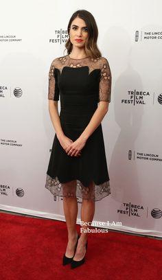 Fabulously Spotted: Nikki Reed Wearing Lela Rose - 'Murder of a Cat' 2014 Tribeca Film Festival Premiere - http://www.becauseiamfabulous.com/2014/04/nikki-reed-wearing-lela-rose-murder-of-a-cat-2014-tribeca-film-festival-premiere/