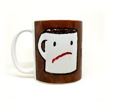 Cream Coffee Mug  Funny Mug  Quote Mug by tamarakraft on Etsy