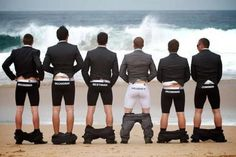 Groomsmen boxer-briefs...FUN or TACKY? Photo Credit: catsmob.com
