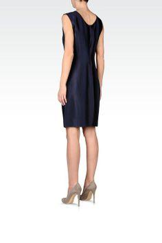 Vestito Corto Donna Emporio Armani - TUBINO IN RASO A RIGHE DEGRADÉ Emporio Armani Official Online Store