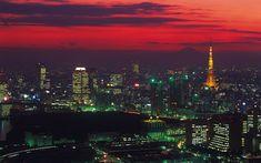 Descargar fondos de pantalla Tokio, 4k, puesta de sol, la Torre de Tokio, edificios modernos, Japón, Asia