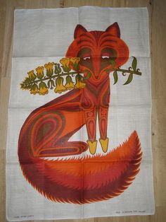 VINTAGE IRISH LINEN OXFAM FOX TEA TOWEL by daisyladybird, via Flickr Damnit, someone please block these from my browser!! I'm libel to spend far too much time oogling vintage linens...