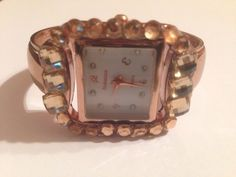 New Crystal Rose Gold Cuff Watch **Small** #Rebecca #Fashion