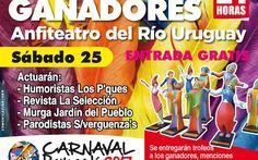 La noche de los ganadores del Carnaval 2017 de Paysandú