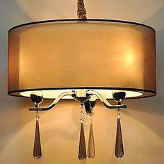 simples de ferro forjado lustres de cristal 6 luzes – BRL R$ 718,17