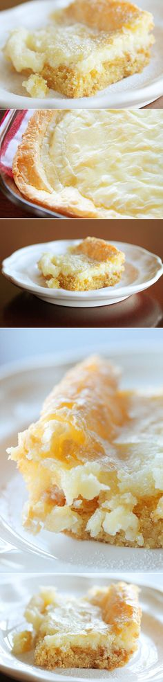 Chess Squares Recipe Texas gold only 5 ingredients (yellow cake mix, eggs, cream cheese, butter, & powdered sugar) & is super easy to make. I would use a Gluten Free Yellow Cake Mix! 13 Desserts, Southern Desserts, Pudding Desserts, Delicious Desserts, Yummy Food, Pudding Cookies, Cake Mix Recipes, Dessert Recipes, Do It Yourself Food
