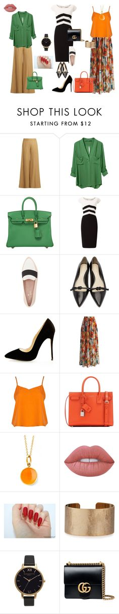 """painel refinado"" by ale-duarte-1 on Polyvore featuring moda, Acne Studios, WithChic, Hermès, Jacques Vert, Kate Spade, 3.1 Phillip Lim, Chicwish, Boohoo e Yves Saint Laurent"