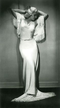 Jean Harlow - the slinky dress that hugs her curves but covers everything will never be out of style. Description from pinterest.com. I searched for this on bing.com/images