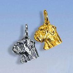 Anhänger Boxerkopf klein Breite 13 mm / Höhe 14 mm Silbergewicht: 2,4 g