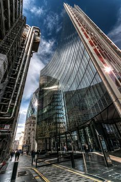 Lloyds, Willis and The Gherkin, London