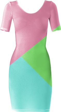 Retro Bubblegum Short Sleeved Bodycon Dress - Available Here: http://printallover.me/products/0000000p-retro-bubblegum-4