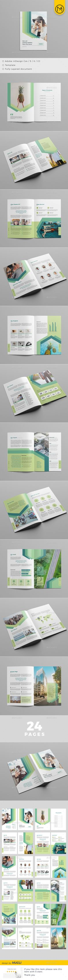 The Brochure — InDesign INDD #identity #template • Download ➝ https://graphicriver.net/item/the-brochure/19208253?ref=pxcr