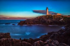 Sunset at Fanad Head Lighthouse on Ireland's #WildAtlanticWay... Awesome!