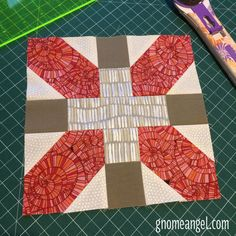 X Plus Patchwork block by GnomeAngel
