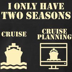 b28fd3a32d 2 seasons of cruising funny cruise saying vector | Men's Premium T-Shirt