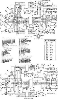 pin by krit sup on harley davidson wiring diagram pinterest 1982 Harley Sportster Wiring Diagram 1975 harley davidson wiring diagram