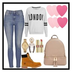 """""""School outfit"""" by minnie5544 ❤ liked on Polyvore featuring MICHAEL Michael Kors, Topshop, ONLY, Timberland, Lacoste, Marc Jacobs, Yves Saint Laurent, Sephora Collection, women's clothing and women's fashion"""