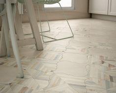 This tile floor is gorgeous!    Equipe Ceramicas |   Curvytile