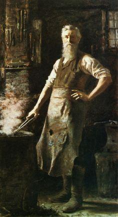 "Thomas Hovenden  ""Village Blacksmith"""