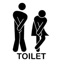 WC Aufkleber Türaufkleber Badezimmer Toiletten Wandtattoo DIY 13*22cm  Wandaufkleber PVC Abnehmbare Wanddeko Bad Waschraum
