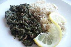 Lina s Awesome Lebanese Spinach, Beef & Rice! from Food.com:   This is a recipe that my mom use to make for us growing up (she still makes it for us :p).  It's my absolute favorite and it's healthy!  This dish is made with spinach, ground beef, and loads of flavor!  Enjoy :)