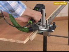 Saubere Lochreihen: Mit Oberfräse und Eigenbau-Vorrichtung zum Erfolg