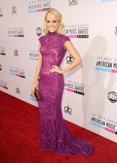 The girl picks out some damn good dresses. Carrie Underwood @ American Music Awards 2012 Red Carpet