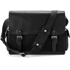 Aspinal of London Men's Large Shadow Messenger - Black (387.045 CLP) ❤ liked on Polyvore featuring men's fashion, men's bags, men's messenger bags, mens leather messenger bag, mens leather laptop messenger bag, mens laptop messenger bag, mens courier bag and mens messenger bags