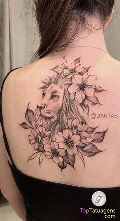 70 Lion Tattoos Women and Men Cute Tattoos, Beautiful Tattoos, Tatoos, Tattoo Femeninos, Lion Tattoo, Floral Tattoo Design, Tattoo Designs, Lion Flower, Goddess Tattoo