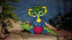 Monster Pet Wool Toy Needle Felted Monster by WildWhimsicalNature