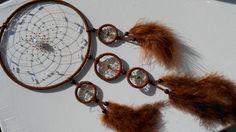 Traumfänger & Mobiles - Brauner Traumfänger mit vielen kleinen Perlen - ein Designerstück von Traumnetz-com bei DaWanda