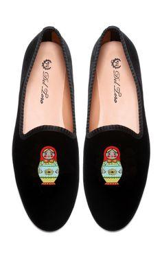 Prince Albert Matryoshka Slipper Loafers by Del Toro - Moda Operandi