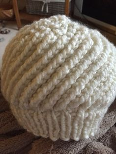 Spin Cycle hat with Bernat Softee Chunky